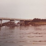 Sea Sport coming under the Rudee Inlet Bridge in the late 70's