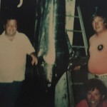 Fred Feller and WT standing with a Marlin