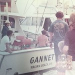 The Gannet unloading fish in the mid 70's