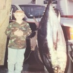 Wes Feller with a nice Big Eye Tuna in the early 90's