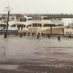 The Virginia Beach Fishing Center during a storm from the mid 80's