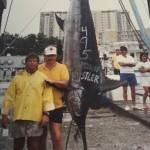 495lb Blue Marlin caught on the Hustler