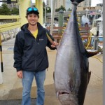 Our Dockhand Charlie next to the Tuna