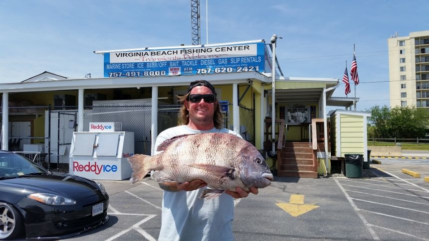 Beautiful red drum released a nice big eye virginia for Fish store virginia beach