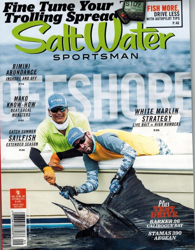 Boats recognized in saltwater sportsman magazine for Saltwater fishing magazines
