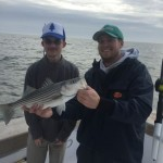 Mate Bobby with a Rockfish that was part of their catch and release action!