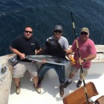 Mate Michael and Romeo of the Rebel doing a little Marlin fishing just south of us