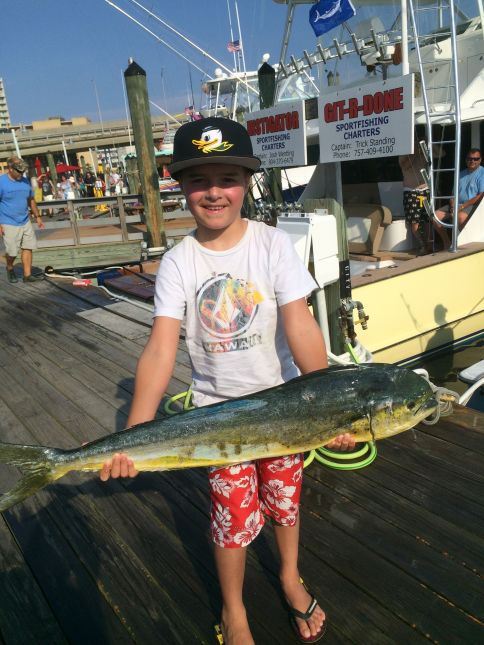 Marlin fishing heating up with some mahi and blueline on for Head boat fishing virginia beach