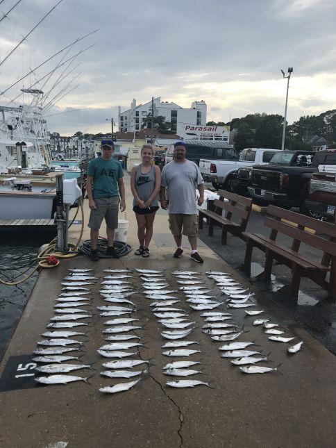 Bluefin tuna spanish mackerel spadefish bluefish for Va beach fishing center