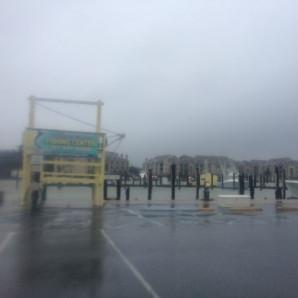 Empty Marina Ahead Of The Storm