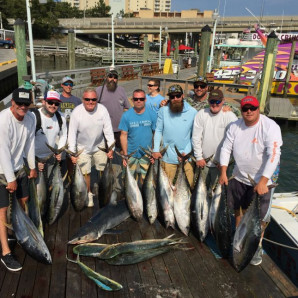 Yellowfin & Mahi On The Docks