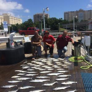 Spanish Mackerel on the Docks!